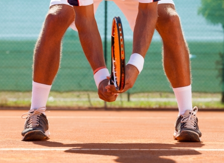 Foto per  tennis player  waiting tennis ball - Immagine Royalty Free