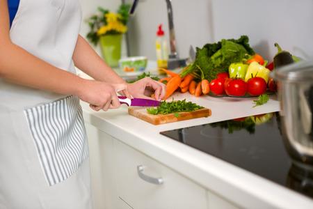 Photo pour Food preparation in the kitchen - image libre de droit