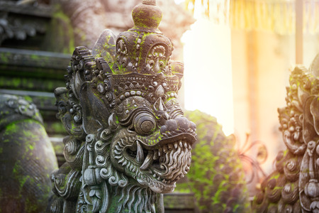 Photo for Traditional Balinese stone sculpture art and culture at Bali,  Indonesia - Royalty Free Image