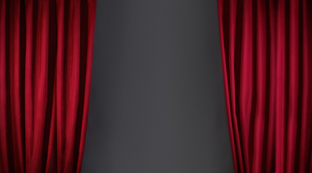 Photo for red curtain or drapes on stage background - Royalty Free Image