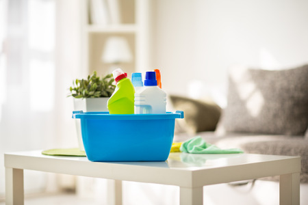 Photo for Cleaning products prepared for cleaning - Royalty Free Image