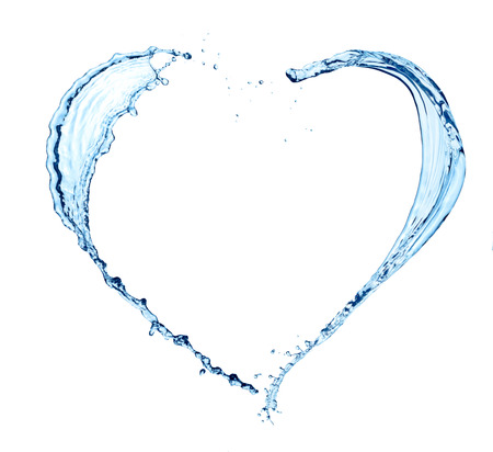 Photo pour Heart made of water on white background - image libre de droit
