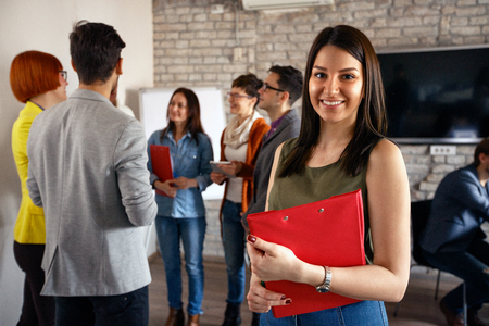 Photo for smiling student architects women - Royalty Free Image