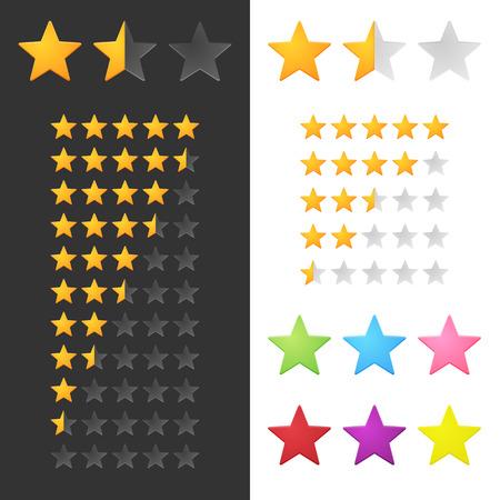 Ilustración de Rating Stars Set. Vector - Imagen libre de derechos