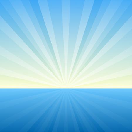 Ilustración de Sunburst Background. Cover Template. Vector Illustration - Imagen libre de derechos