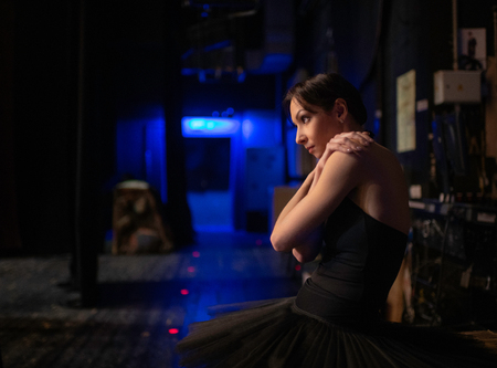 Photo for Beautiful Ballerina preparing going to the stage - Royalty Free Image