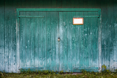 Photo for Old wooden barn door. - Royalty Free Image