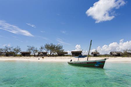 Foto de boat in Emerald sea, Diego Suarez in Madagascar - Imagen libre de derechos