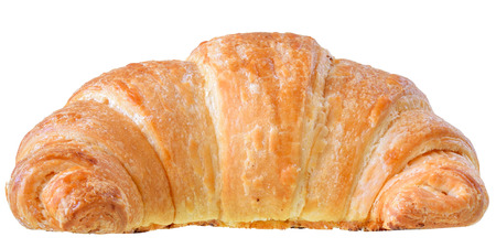 Foto de Traditional french pastry croissant isolated on white background. - Imagen libre de derechos