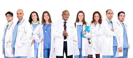 Foto de Group of doctors isolated in a white backgroud - Imagen libre de derechos
