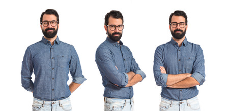 Photo for Young hipster man with his arms crossed - Royalty Free Image