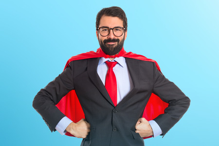 Photo pour Businessman dressed like superhero - image libre de droit