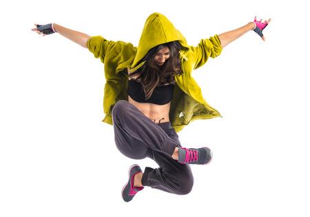 Photo for Teenager girl dancing hip hop - Royalty Free Image