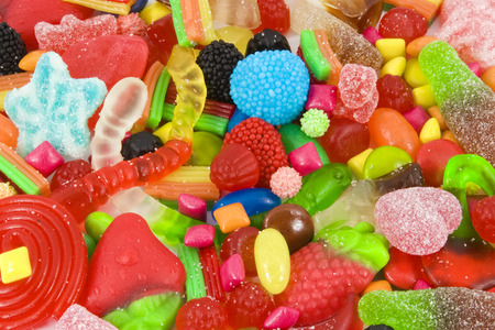 Photo for Close view of a collection of multicolored sweets - Royalty Free Image