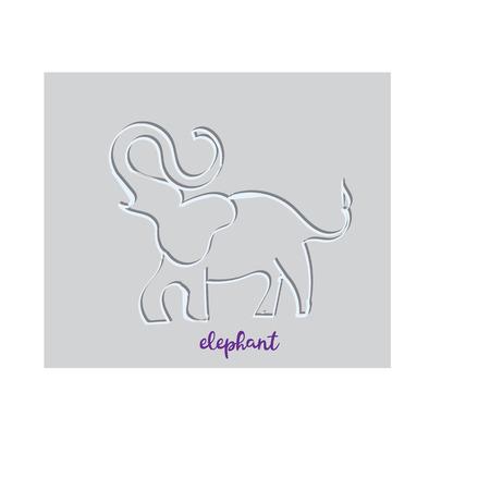 Simple modern elephant logo, elegant and stylish, paper