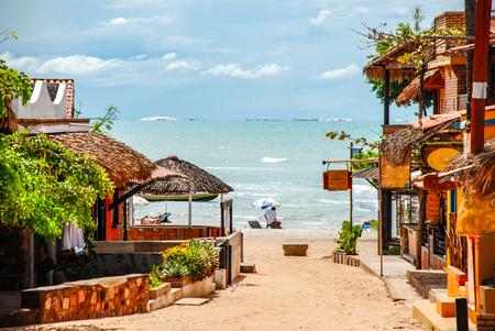 Photo pour Jericoacoara is a virgin beach hidden behind the dunes of the west coast of Jijoca de Jericoacoara, Ceará, Brazil - image libre de droit