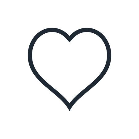Illustration pour outline heart icon - image libre de droit