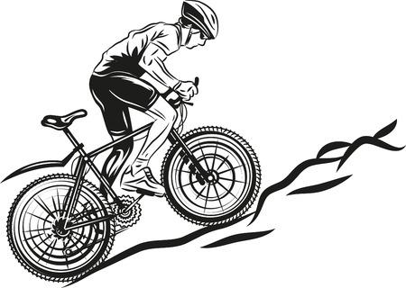 Illustration pour MTB biker - image libre de droit