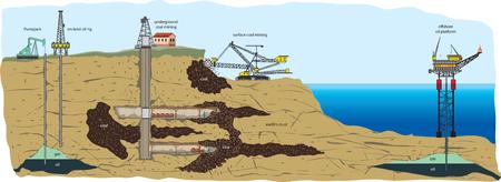 Illustration pour Mining types - image libre de droit