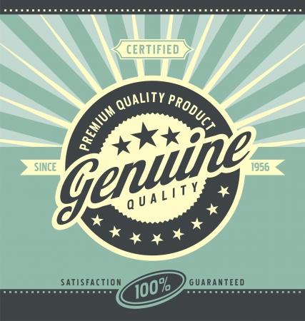 Ilustración de Vintage promotional poster for premium quality product - Imagen libre de derechos