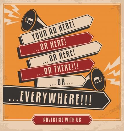 Illustration pour Advertising and marketing creative concept design  - image libre de droit