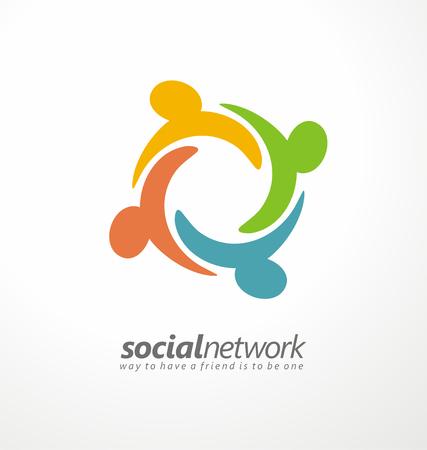 Ilustración de Friends concept social network icon - Imagen libre de derechos