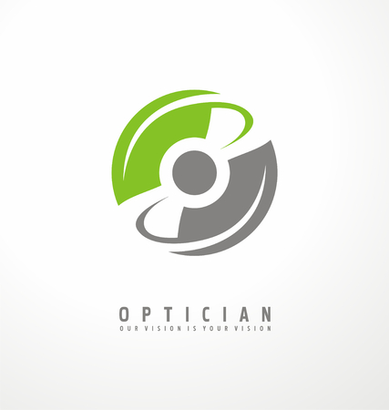 Illustration pour Optician creative symbol concept - image libre de droit