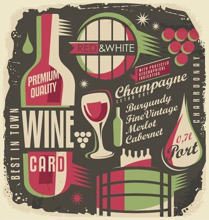 Illustration pour Wine list creative and unique design concept - image libre de droit
