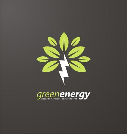Ilustración de Creative symbol concept for renewable energy - Imagen libre de derechos