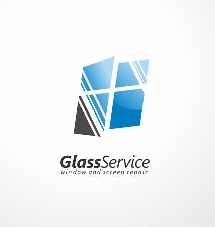 Ilustración de Glass service symbol layout - Imagen libre de derechos