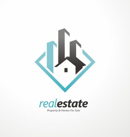 Illustration pour Vector symbol design for real estate company - image libre de droit