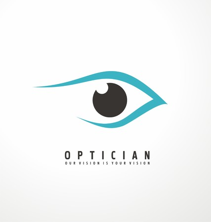 Illustration pour Optician creative symbol concept template - image libre de droit