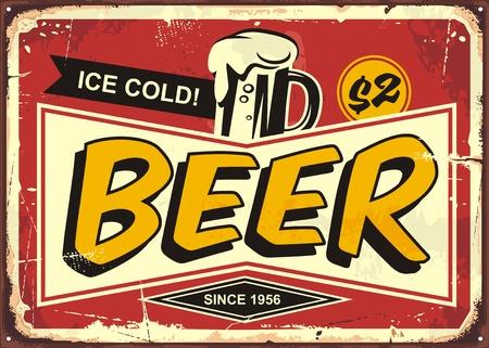 Illustration pour Comic style retro poster design with ice cold beer mug - image libre de droit