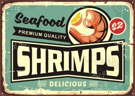 Illustration pour Seafood restaurant menu sign design. - image libre de droit
