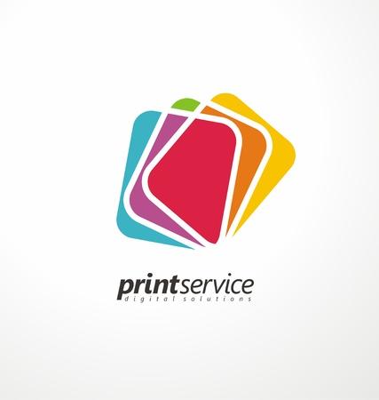 Illustrazione per Creative logo design idea for printing shop - Immagini Royalty Free