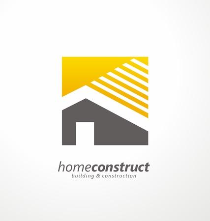 Illustration for Home construction vector logo design - Royalty Free Image