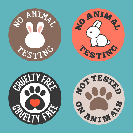 Photo pour No animal testing and cruelty free for use in label of cosmetic and pharmaceutical products, flat design tag - image libre de droit