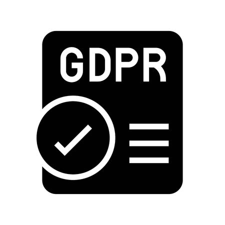 Illustration pour GDPR General Data Protection Regulation icon, solid design - image libre de droit