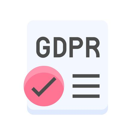Illustration pour GDPR General Data Protection Regulation icon, flat design - image libre de droit
