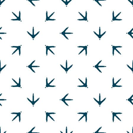 Ilustración de Chicken paw footprint seamless pattern for the fabric, wallpaper, banner. - Imagen libre de derechos