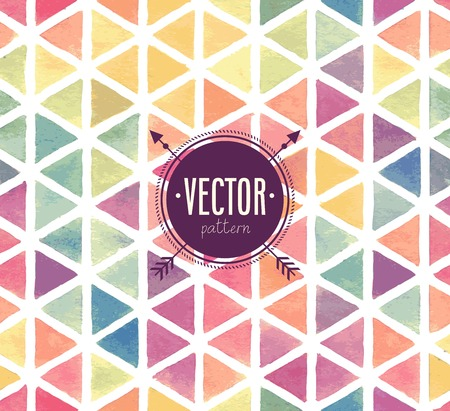 Photo pour Vector Watercolor seamless pattern. - image libre de droit