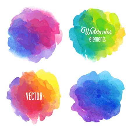 Ilustración de Vector Watercolor design elements. - Imagen libre de derechos