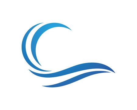 Ilustración de Beauty Wave symbol and icon for you template Logo - Imagen libre de derechos