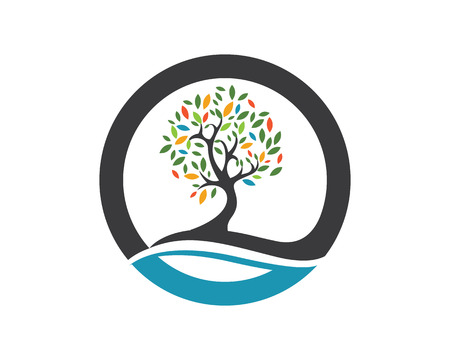 Illustration for Eco Tree Logo Template - Royalty Free Image