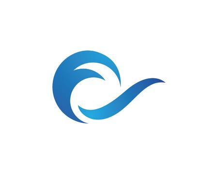 Ilustración de Water Wave Icon Logo Template - Imagen libre de derechos