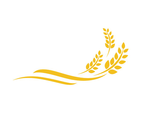 Illustration pour Agriculture wheat Logo Template vector icon design - image libre de droit