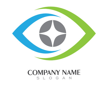 Illustration for Eye care Logo Template - Royalty Free Image