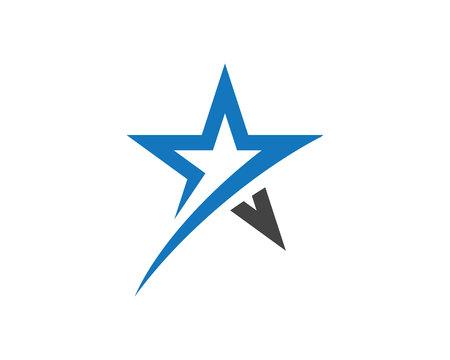 Ilustración de Star Logo Template vector icon illustration design illustration. - Imagen libre de derechos