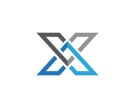 Ilustración de X Letter Logo Template vector icon design - Imagen libre de derechos