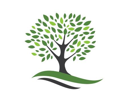 Ilustración de Tree icon logo template vector illustration - Imagen libre de derechos